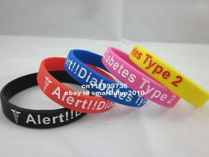 TYPE 2 DIABETES BRACELETS     $4  EACH  OR    4 FOR $15 Windsor Region Ontario image 1