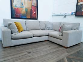 Next Sonoma Corner sofa in oatmeal fabric RRP £1200