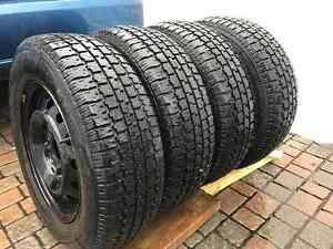 4*195/70R14 - Winter Tires + Rims with GOOD CONDITION! West Island Greater Montréal image 2