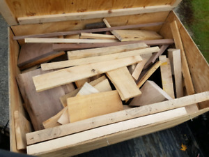 Box of wood offcuts