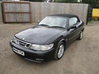 2000 Saab 9-3 2.0T SE Convertible Automatic Petrol Black Turbo Red Top Soft Top