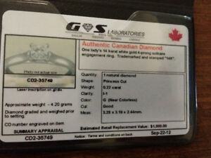 Authentic Canadian diamond ring