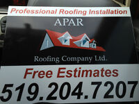 APAR Roofing Company Ltd. Free Estimates