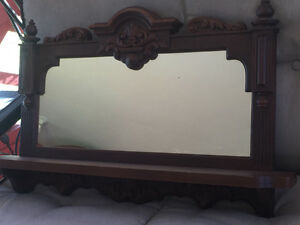 Mirror with shelve