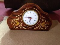 Italian, Inlaid Wood Clock