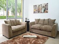 BRAND NEW DYLAN 3+2 SEATER FABRIC CORDED CORNER SOFA AVAILABLE ****IN 6 COLOURS****