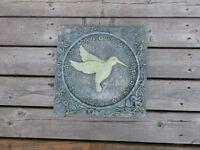 Hummingbird Garden Plaque