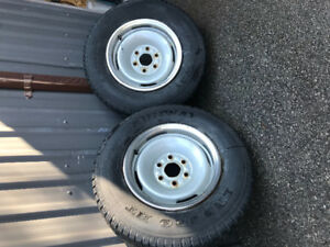 "16"" 6 bolt Chevy/ GMC truck rims & tires"