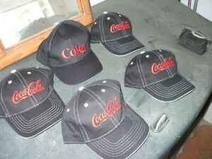 5 new never worn cokacola caps