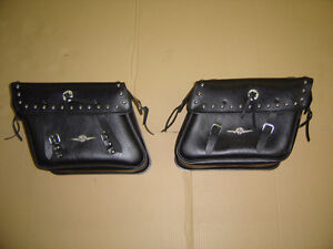 Road Chrome Saddle Bags For Honda VT-1100C3 Areo