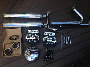 Road Glide exhaust and engine parts