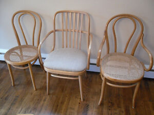 bentwood chairs - Thonet chairs - cafe chairs - bistro chairs