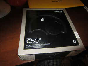 Brand New Headphones - AKG C50 (bluetooth, 20hour, great sound)