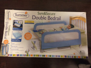 Double bedrails for kids bed
