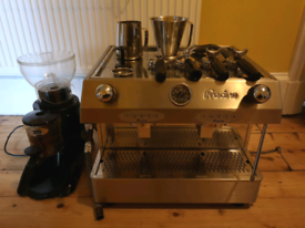Fracino Bambino 2 Group Coffee Machine and Iberital MC5 Grinder