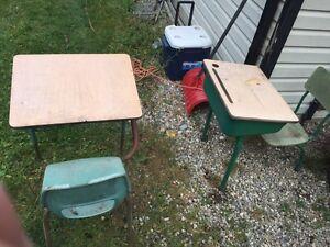 2 school desks
