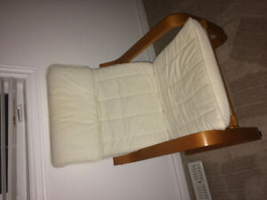 IKEA off white poang chair