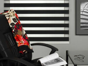 ZEBRA SHADES, ROLLER SHADES, HORIZONTAL BLINDS, VERTICAL BLINDS.