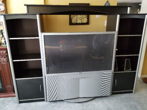 "SONY 51"" TELEVISION AND WALL UNIT"