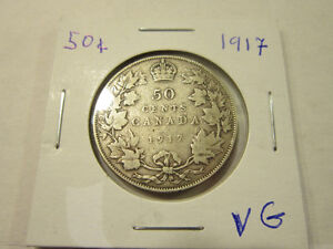 Old Canadian 50 cent silver coins London Ontario image 3