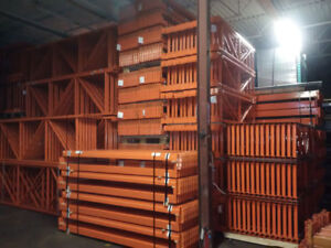 We have the largest stock of pallet racking in GTA