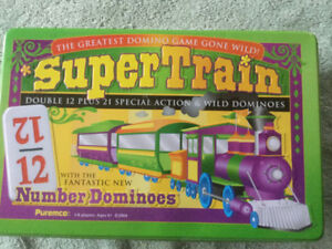 Mexican Super Train Dominoes Set and Crib board