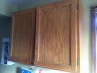 solid oak cabinets great for garage or repaint