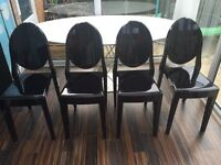 REDUCED 4x contemporary dining/ outdoor chairs. OFFERS