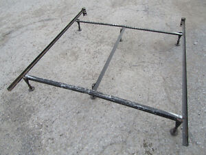 Used Metal Bed Frame with Middle Support Bar / Lindsay / $60.oo