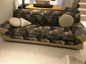 Custom designed art deco couch and chair