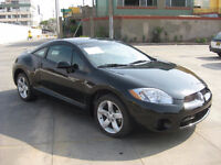 2008 Mitsubishi Eclipse black Coupe (2 door)