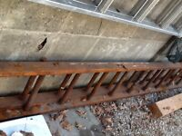 Extra long wooden ladder