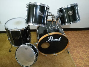 Pearl Export 5 PC Drum Kit - Great Shape - Shells + Heads Only