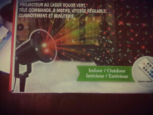 Indoor/outdoor Lazer light with remote