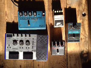 Misc guitar pedals & synthesizers, etc