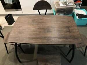 Wood Dinning Table with 4 Matching Chairs (Very New Condition - 9 mont