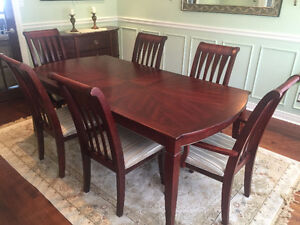 Beech and Cherry dining room set with buffet