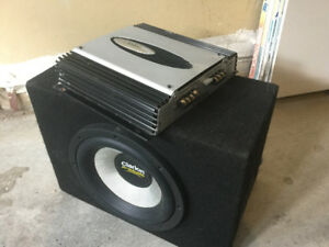 Clarion Subwoofer, Amp and Box