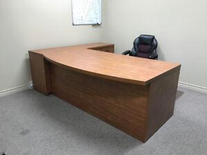 Ensemble de bureau en coin + table ronde
