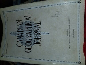 Canadian Geographical Journal  Sept 1930. Volume 1 No 5.