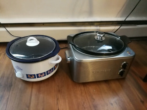 Crock pot 20$ and Slow cooker 40$
