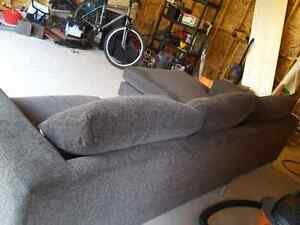 Dark grey, modern couch with chaise lounge Windsor Region Ontario image 2