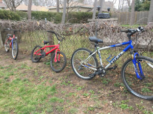 3 Bikes for Sale. As is. Make an offer, I'm not expecting much.