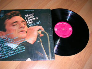 """Records, Johnny Cash's Greatest Hits. 1968? 12""""  33 1/3rpm"""
