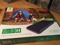 Jilong flocked velvet -feel double air bed, camping, festival, caravan, tent, garden etc, BNIB