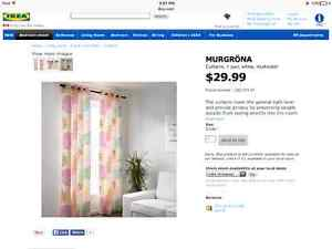 Ikea set of 2 curtains multicolour only 20!!!