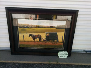 COUNTRY MENNONITE FRAMED PICTURE Kitchener / Waterloo Kitchener Area image 1