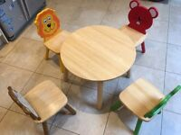 Kids table and chairs by John Crane, Pin Toys