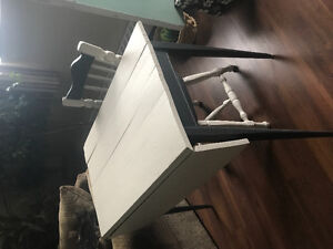 Antique Drop Table with Chair