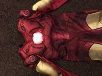 Halloween fancy dress iron man muscle outfit